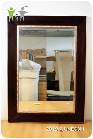 Grote Spiegel Met Brede Lijst.Grote 115 Cm Spiegel Brede Lijst Hout Zilver